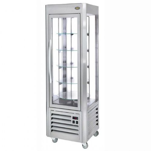 Roller Grill RD60T Stainless Rotating Shelf Refrigerated Display Refrigerated Displays